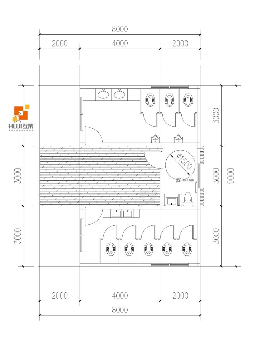 集装箱厕所E款海天风(1A标准)-HUJI互集
