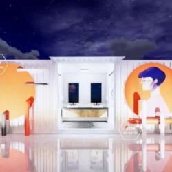 卫生间这样设计也太酷炫了吧,集装箱创意工业风