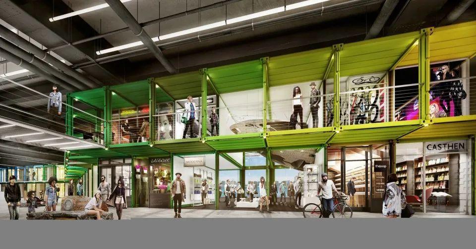最新!用集装箱设计购物中心成为全球现象-HUJI互集